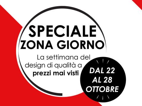 SPECIALE ZONA GIORNO - La settimana del design di qualità a prezzi mai visti