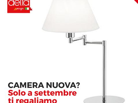 CAMERA NUOVA? Solo a settembre ti regaliamo le lampade!