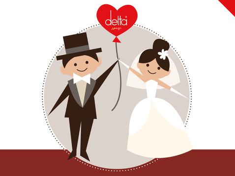 Metti la casa in lista nozze con Delta Design