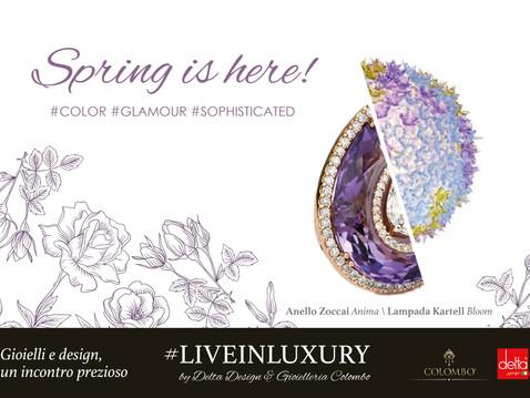 Spring is here: al via la partnership #LIVEINLUXURY con Gioielleria Colombo