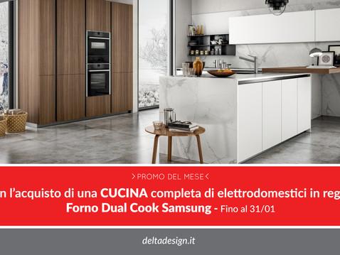 Scegli una cucina completa, in regalo il Forno Dual Cook Samsung