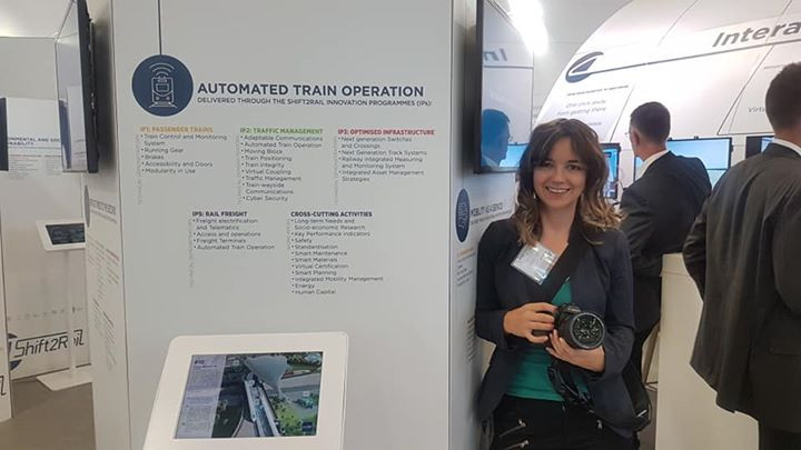 At this year's INNOTRANS, The International Trade Fair for Transport Technology in Berlin, I'm the official photographer for Shift2Rail.