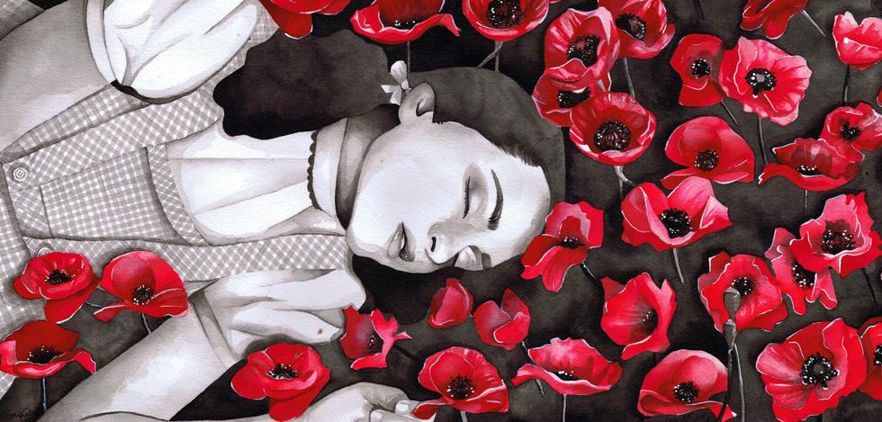 006 - RhiannaCatt - 'Dreaming in the Poppies'.