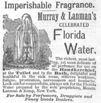 Vintage advertisement of Florida Water