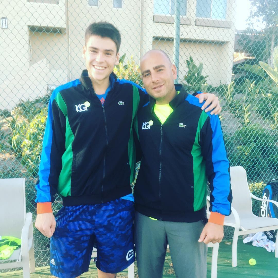 Coach Kareem with Alec