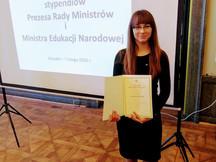 Uroczystość wręczenia Stypendium Prezesa Rady Ministrów