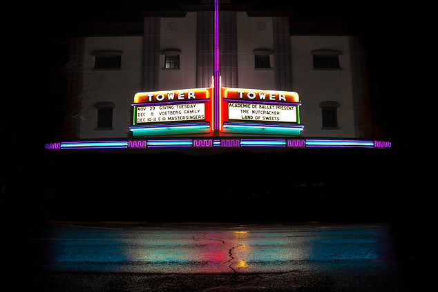 Fine Art Photography Tower Theater in Bend, Oregon