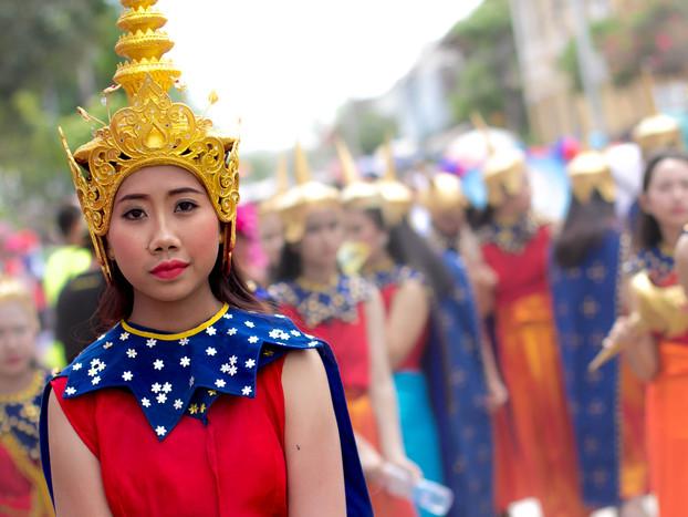 Street Photography Laos New Years Parade