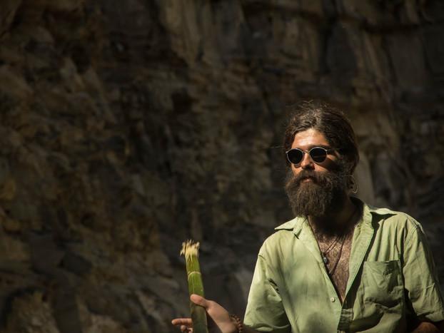 travel photography bearded hippy
