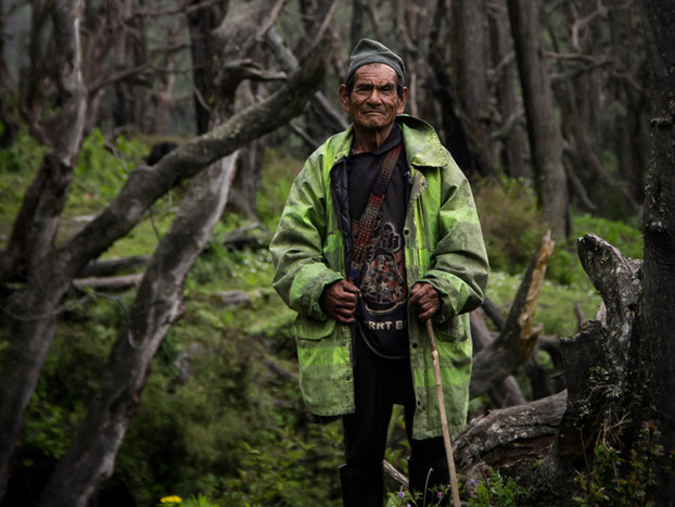 travel photography Nepali man in Dhorpatan forest