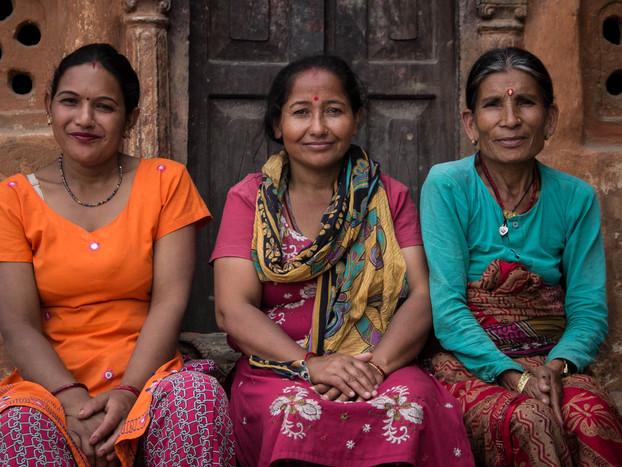 street photography Nepali women Kathmandu
