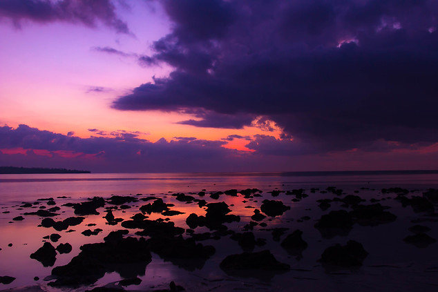 Nature Photography sunrise over tide pools in Andaman Islands