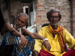street photography Nepali men sitting in Kathmandu