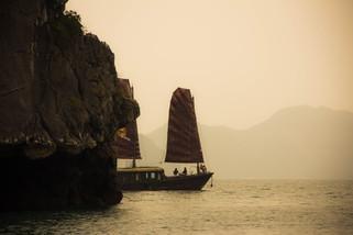 Travel Photography junk ship in Halong Bay