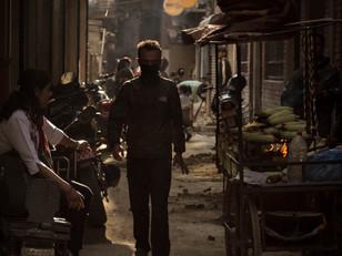 Street Photography narrow Kathmandu alleyway