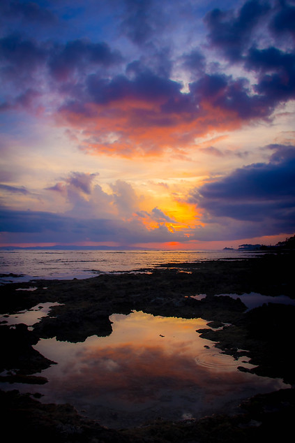 sunset photography tide pool in andaman islands
