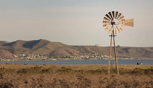 Landscape Photography of Old Windmill on California Coast
