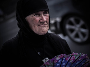 Tbilisi street photography Georgian orthodox nun
