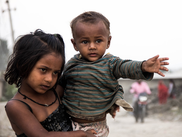 Street Photography Nepali Children in Kathmandu