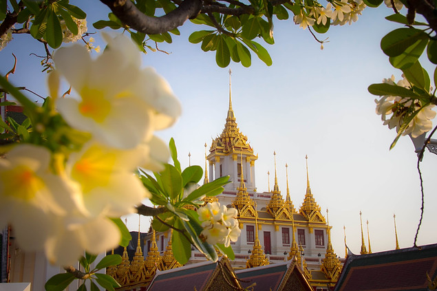 Travel Photography Buddhist Temple in Bangkok, Thailand