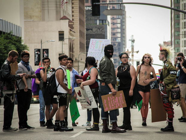 Documentary Photography of Trump Protesters in Los Angeles