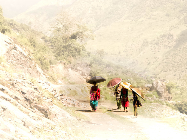 Fine Art Photography Heat in Mountains of Nepal