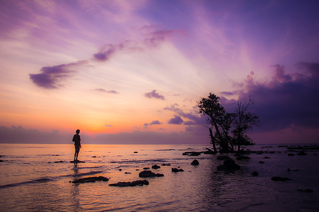 Travel Photography sunrise on Andaman Island beach