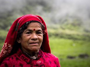 Travel photography Nepali woman on Jaljala Pass
