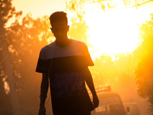 Street Photography Kathmandu sunset in Nepal