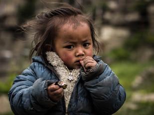 travel photography portrait of little Nepali girl