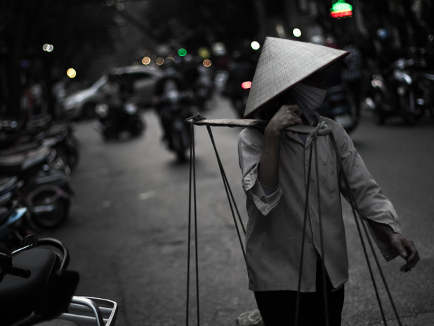 Street Photography Vietnamese Woman in Hanoi