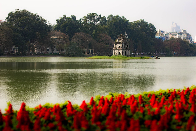 Landscape Photography of Hoan Kiem Lake in Hanoi, Vietnam