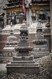 Travel photography of Hindu statues in Kathmandu square