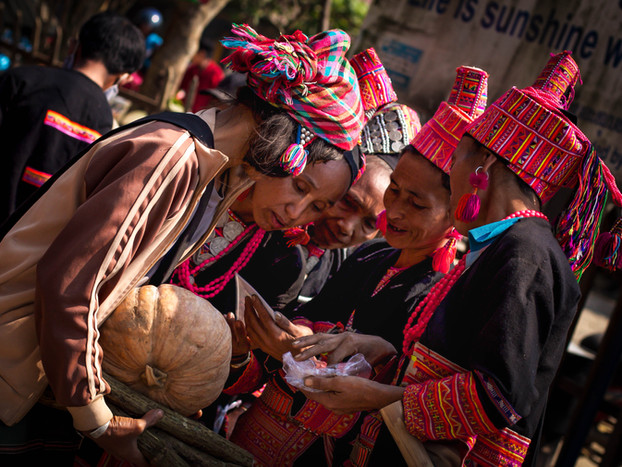 Travel Photography Traditional Akha women in Laos