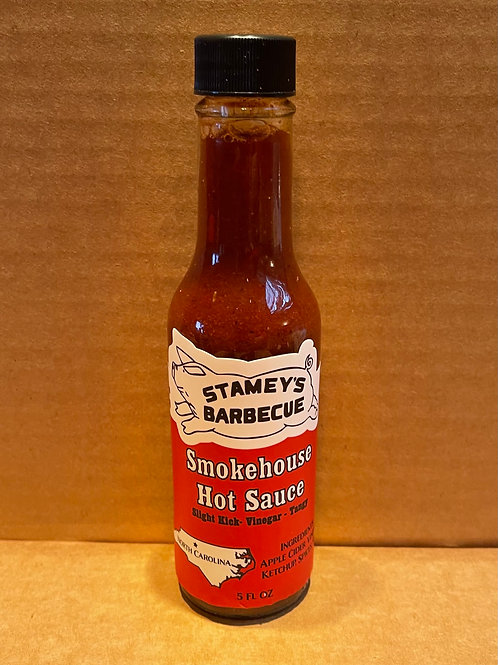 Bottle of Stamey's Smokehouse Hot Sauce