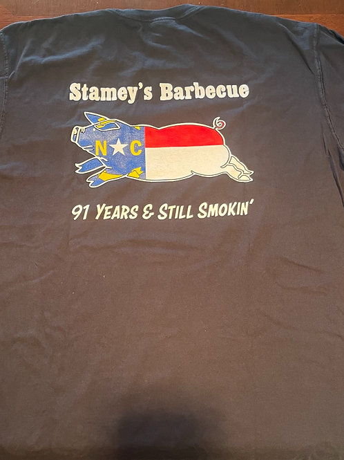 Black Stamey's NC Pig LogoT-Shirt