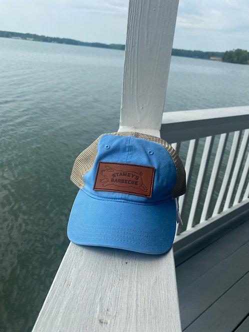 Columbia Blue/Khaki Stamey's Pig Logo Leather Patch Richardson 111