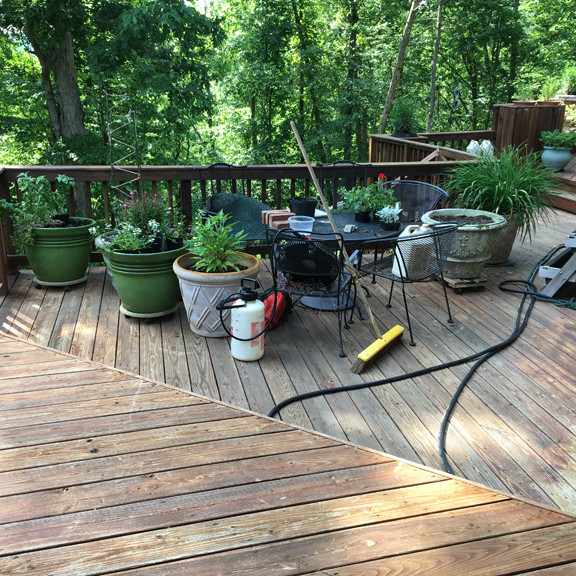 earlysville va planting pots for deck and cleaning staining