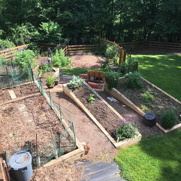 earlysville, va Spring garden ready for planting
