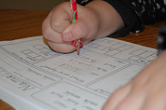 Los niños y sus deberes escolares