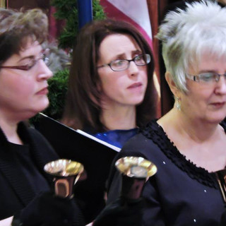 Our handbell ringers with Charlene Mathi