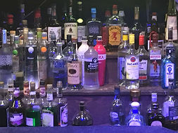 picture of the bar bottles