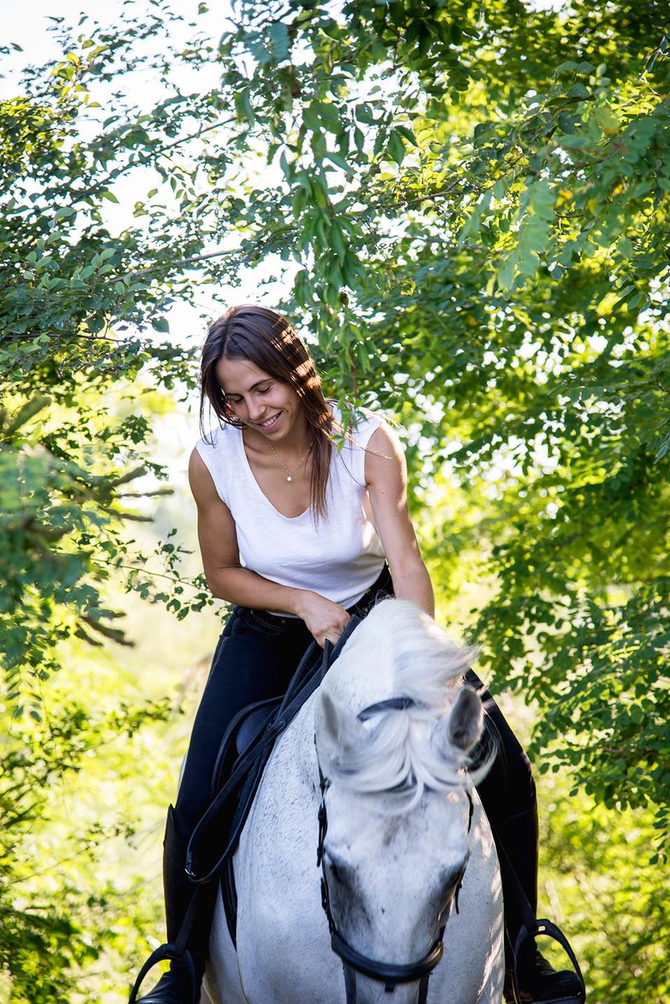 Flavia a cavallo