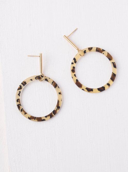 Cassy Leopard Print Earrings
