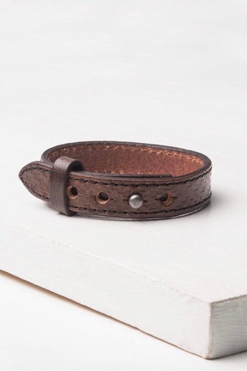 Charlie Coffee leather bracelet