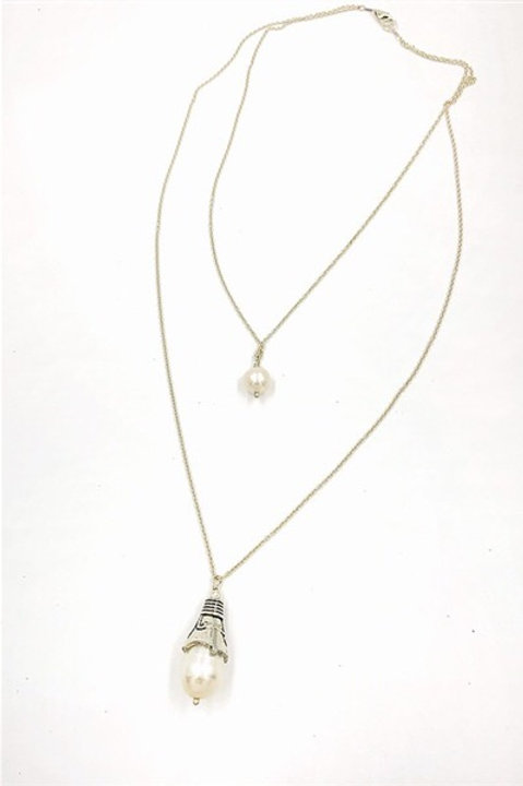 Wonderland Necklace Freshwater Pearl and Sterling Silver
