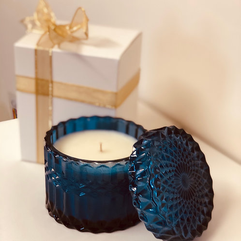Luxury Ocean Blue Soy Candle