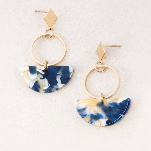 Ivy blue resin earrings