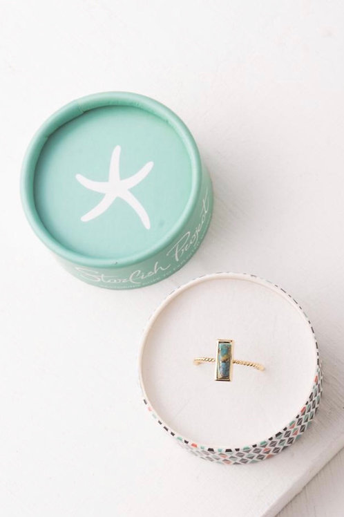 Mariska Turquoise Rectangular Ring