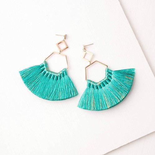 Ava Turquoise Tassel Earrings